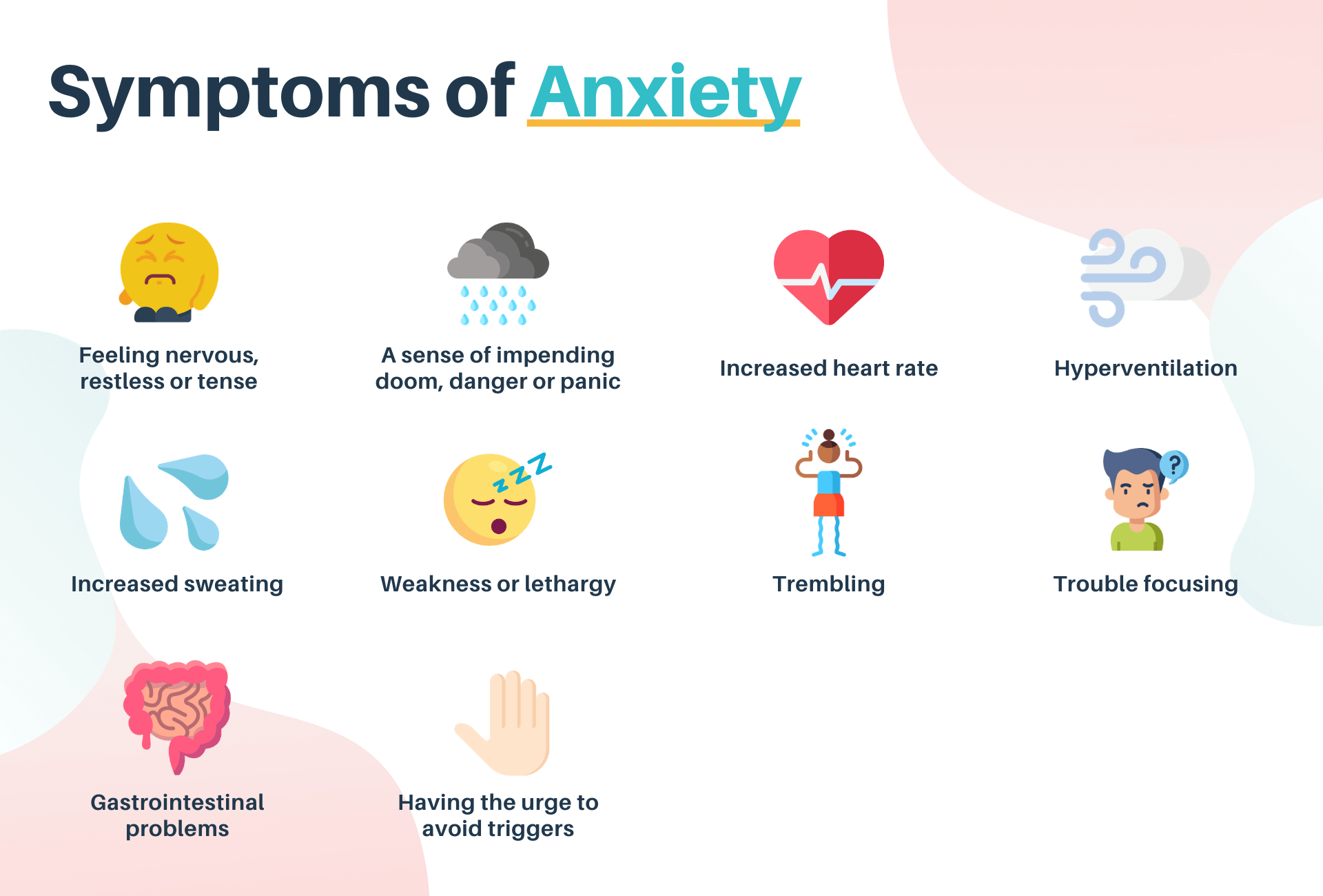 symptoms of amxiety