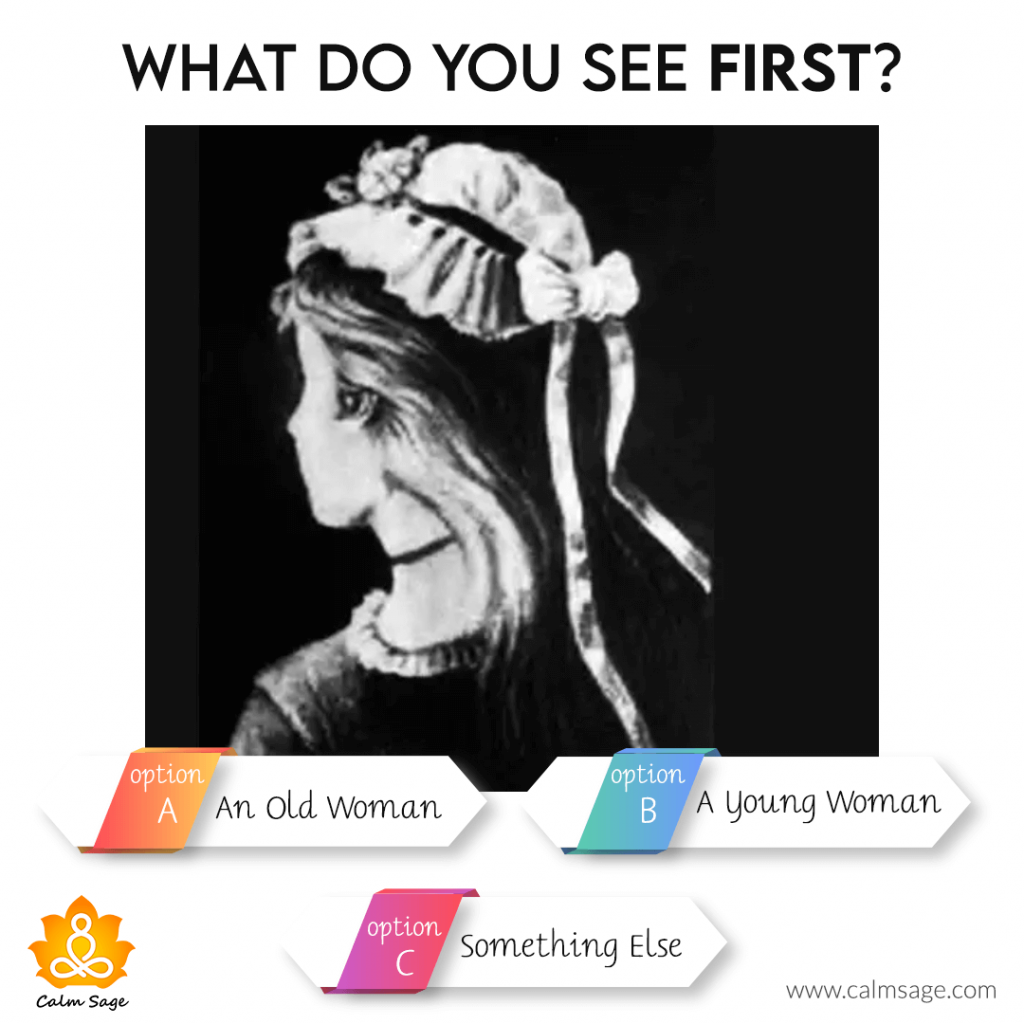 what you see first old women, young man or something else