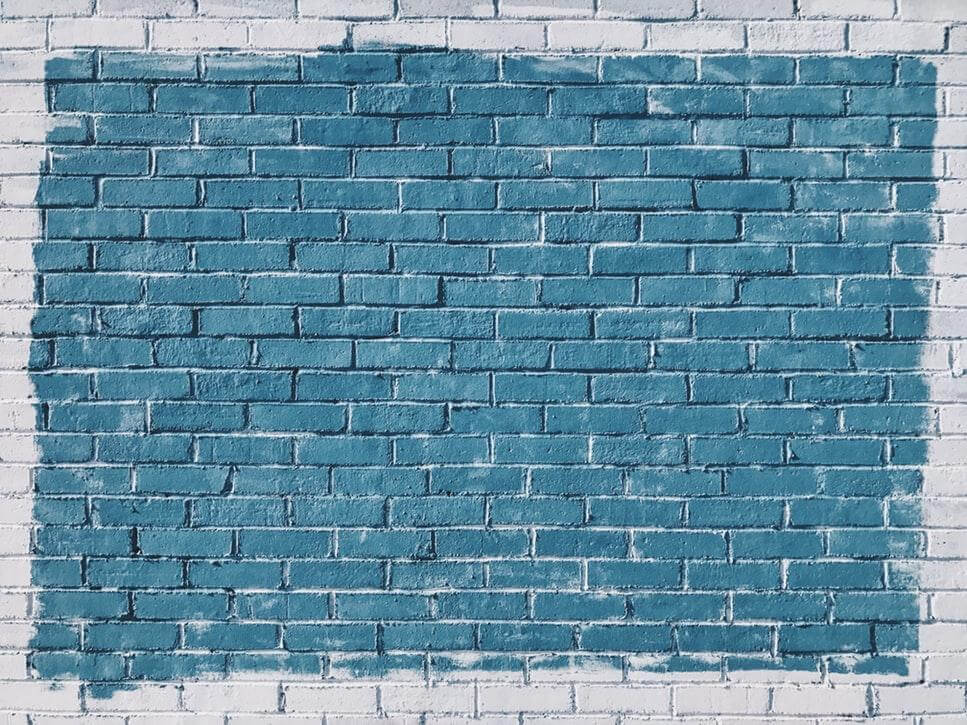 A blue colored wall