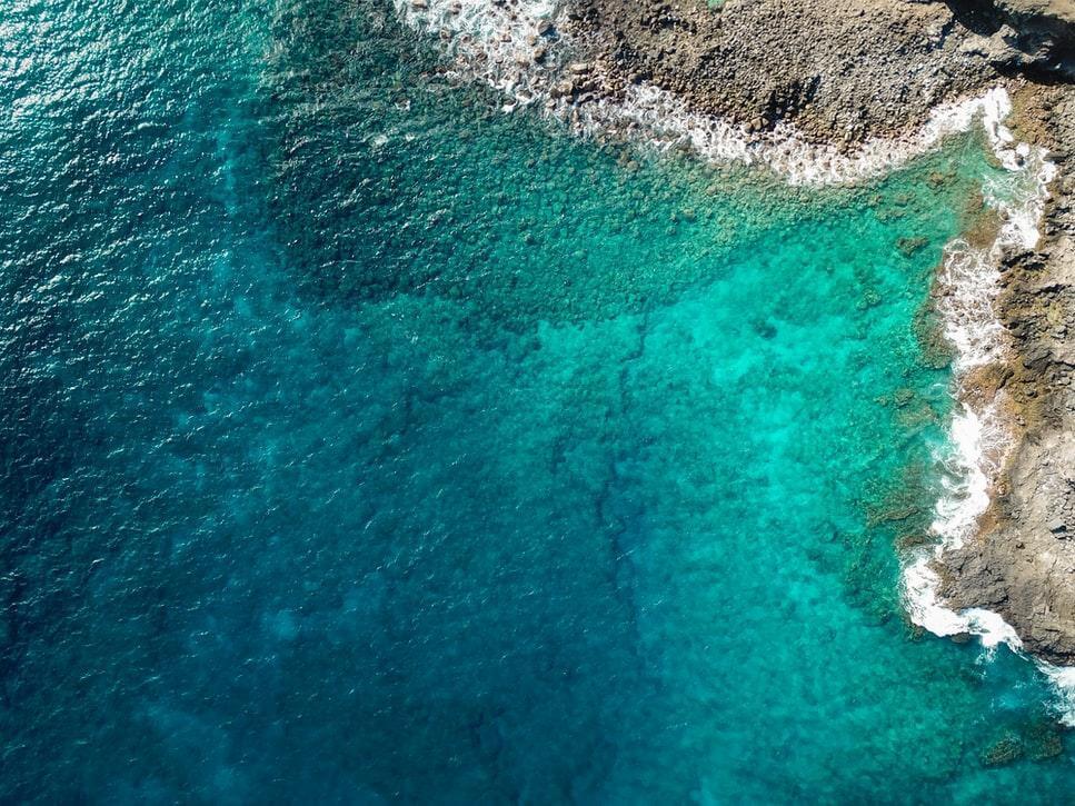 A glance of the sea - calm Desktop Background