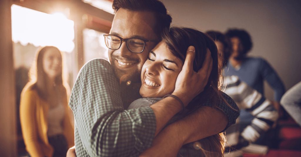 Hugs Elevate Happy Hormones