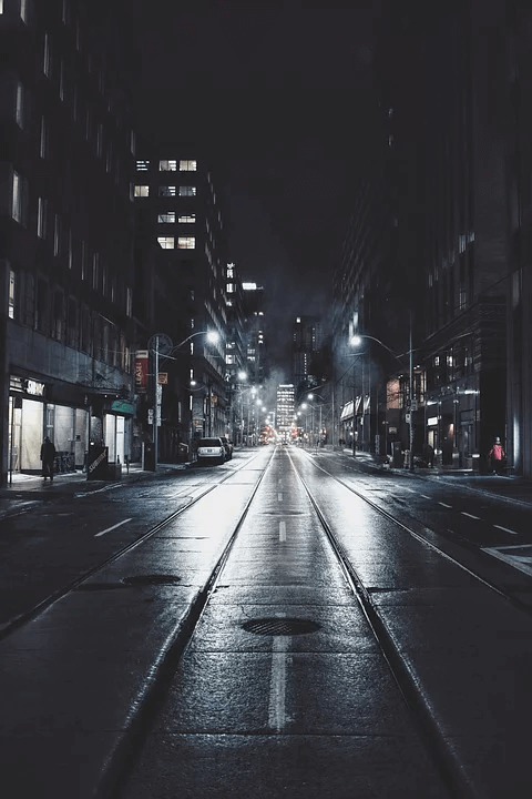 Nightwalk in The City wallpaper that relax your eyes