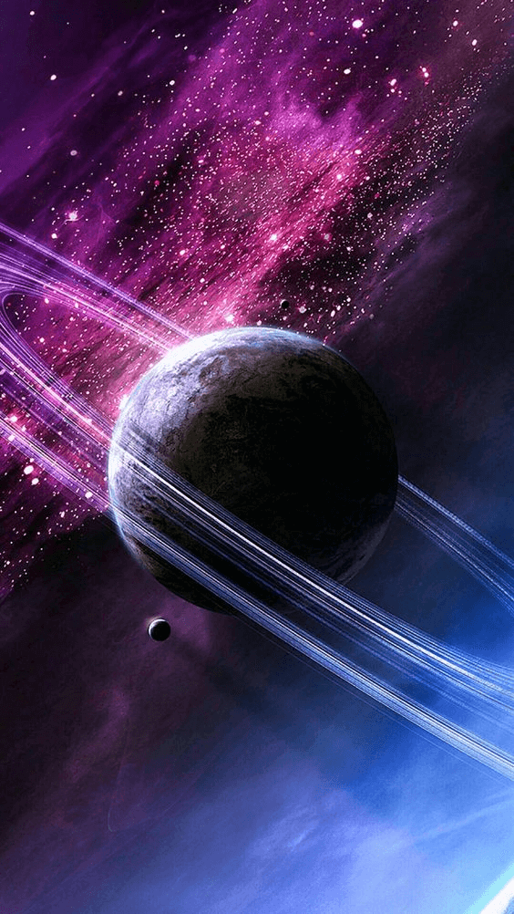 Rings Of Saturn a calming iPhone background