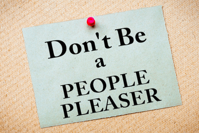 Pleasing people can be a sign of under valuing