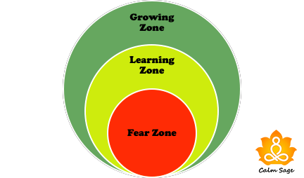 fear zone, learning zone and growth zone