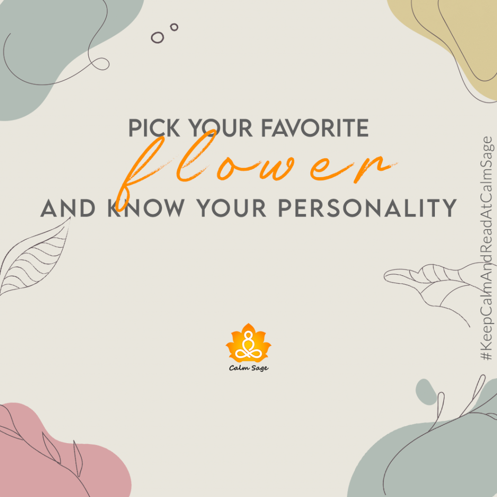 pick the flower and know your personality