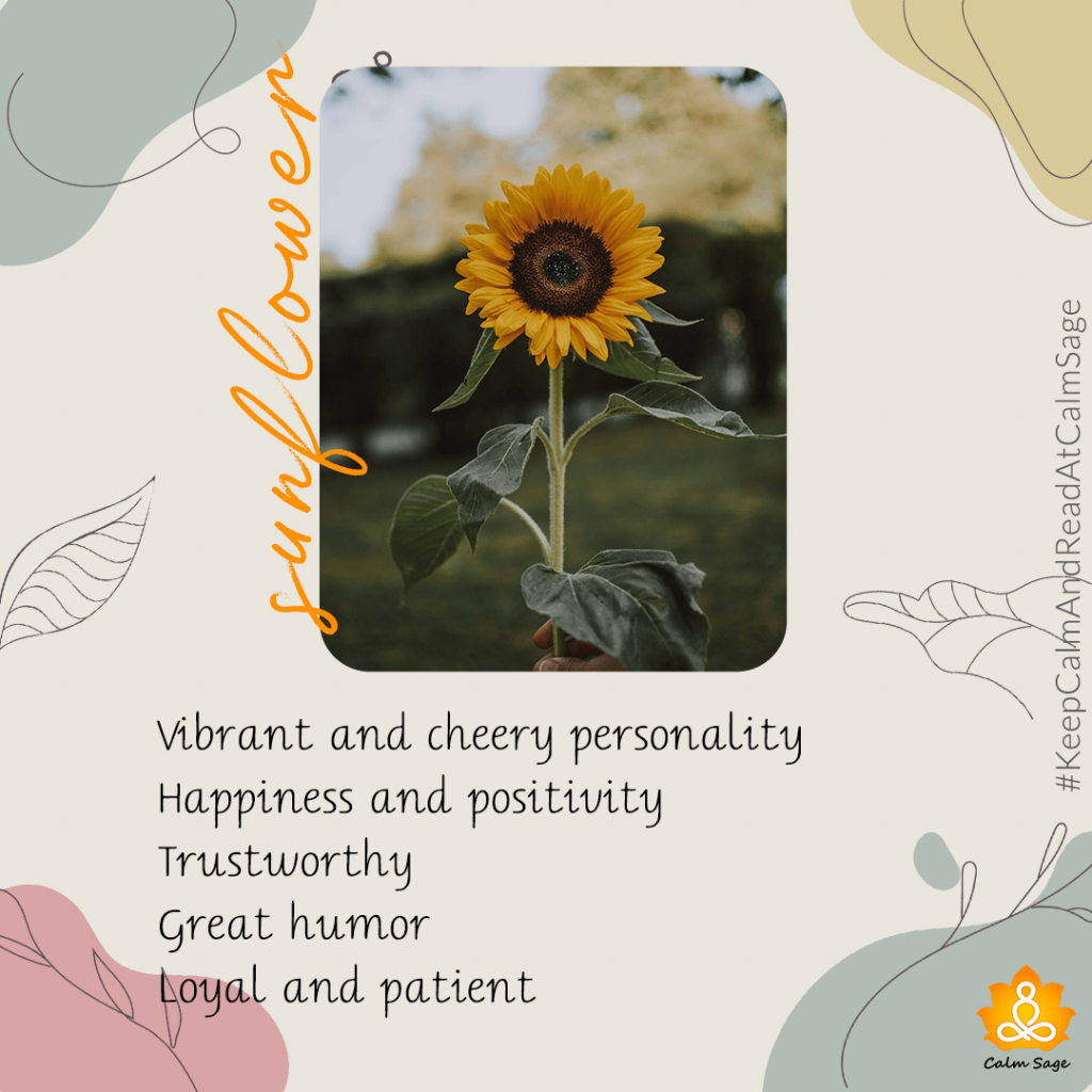 sunflower - vibrant personality