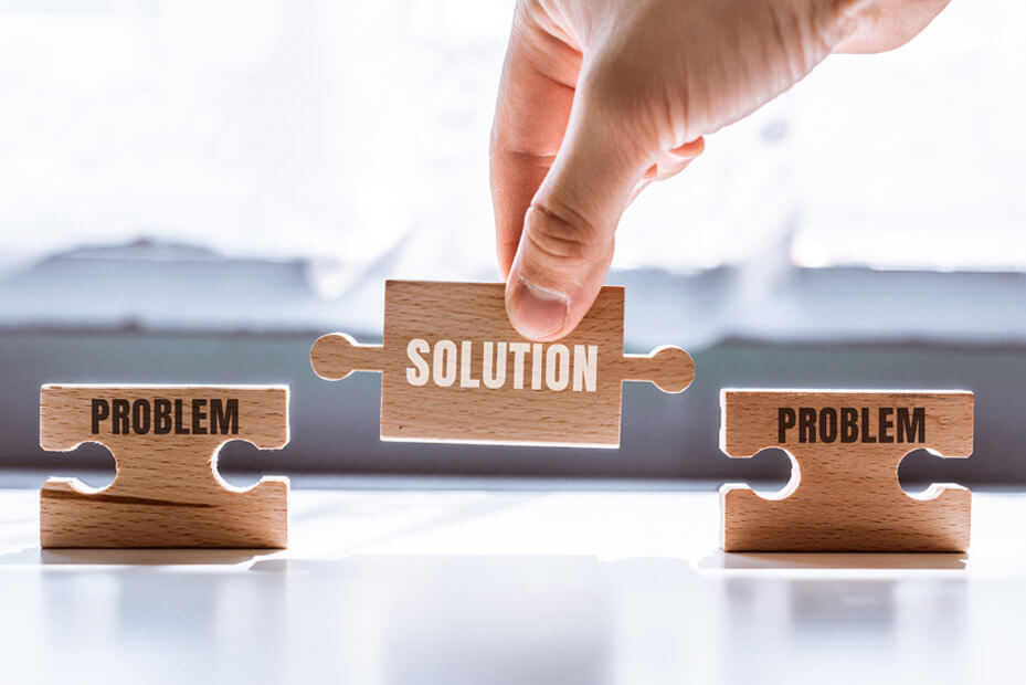 find solutions to the problems