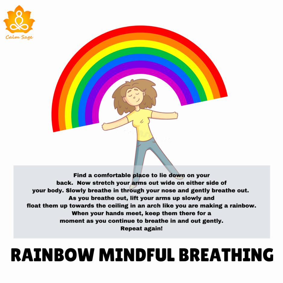 rainbow mindful breathing