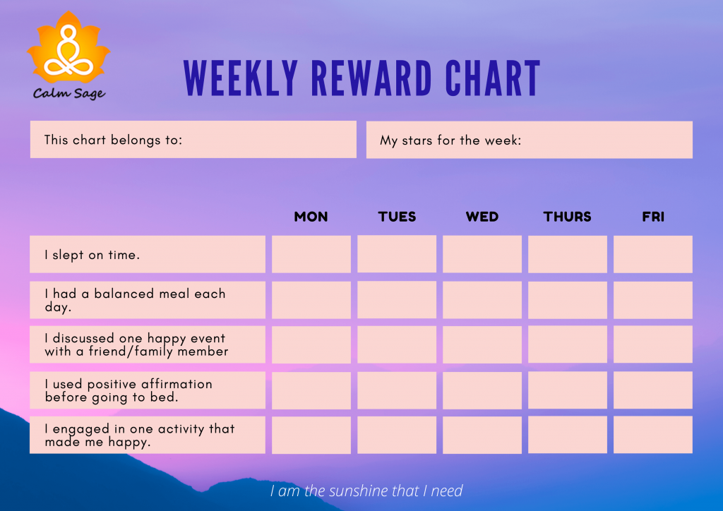 weekly reward chart