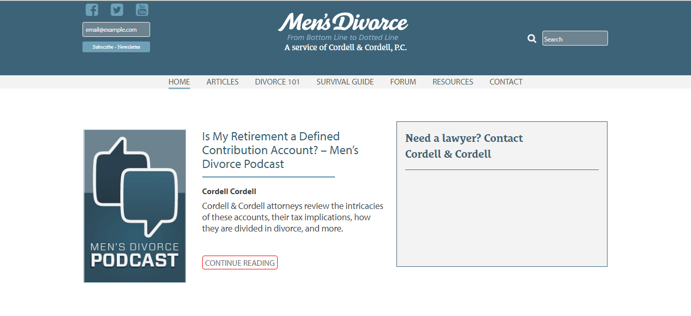 Men's Divorce