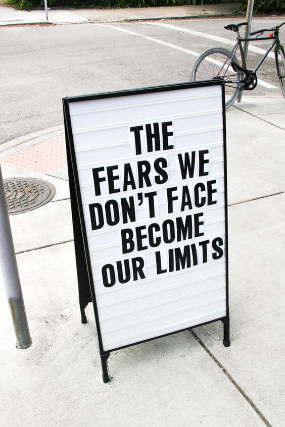 quote to conquor your fears