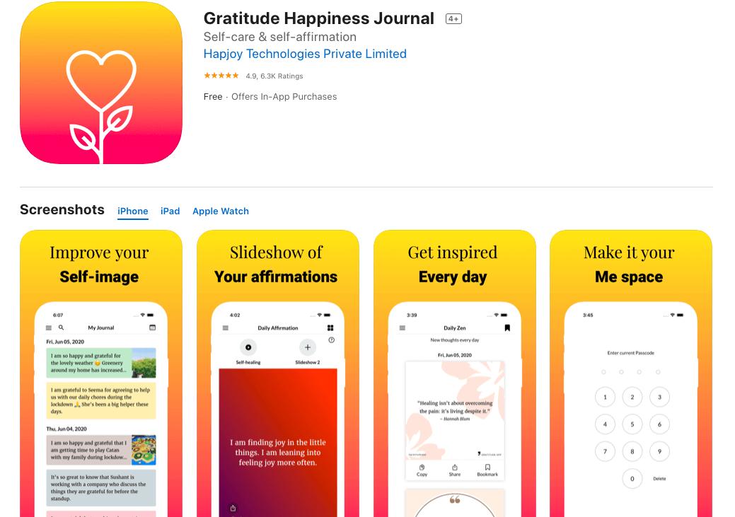 Gratitude Happiness Journal