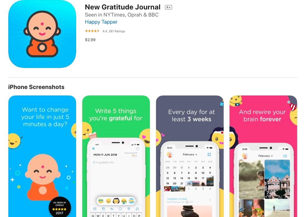 New gratitude journal
