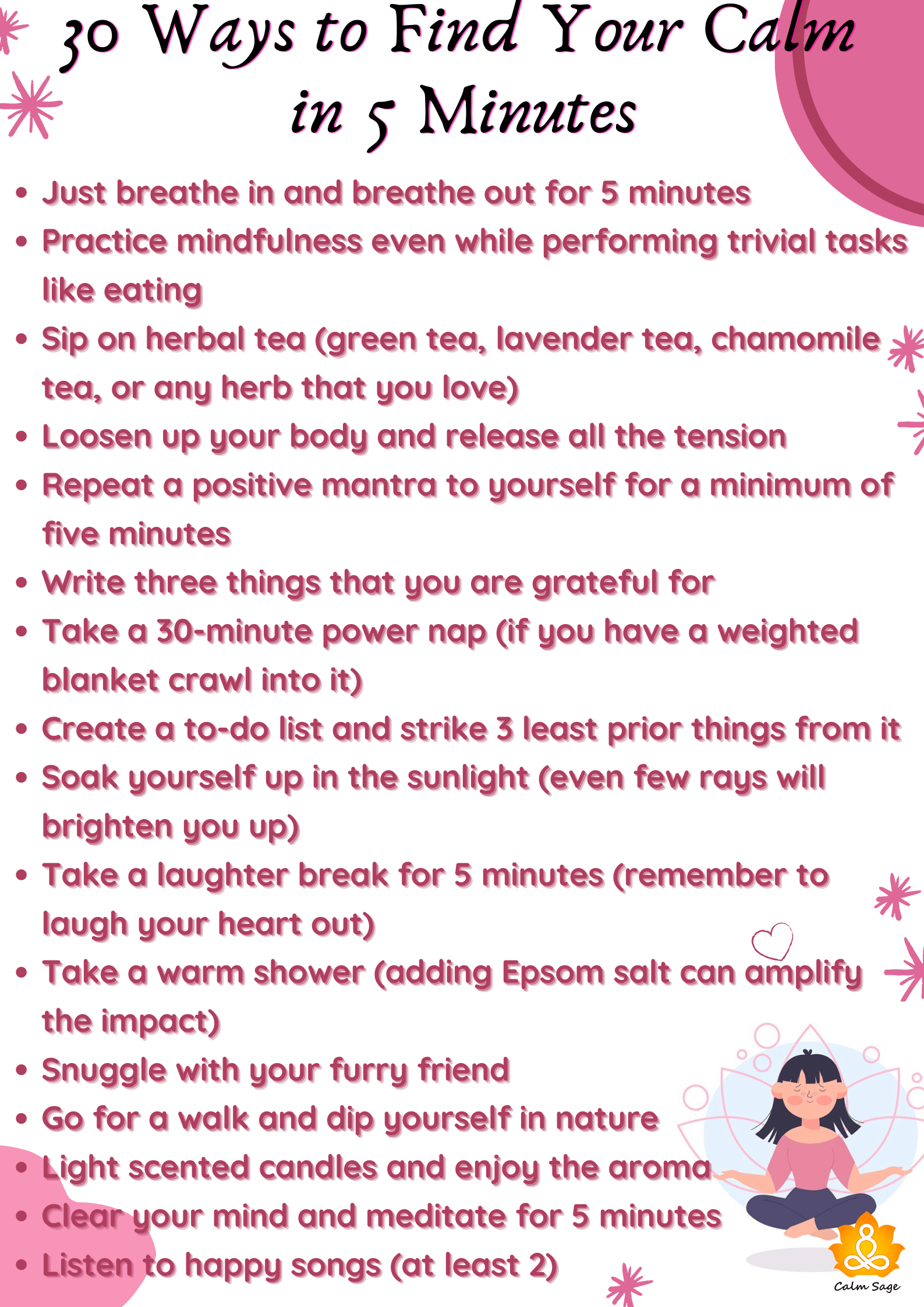 Ways to find your calm
