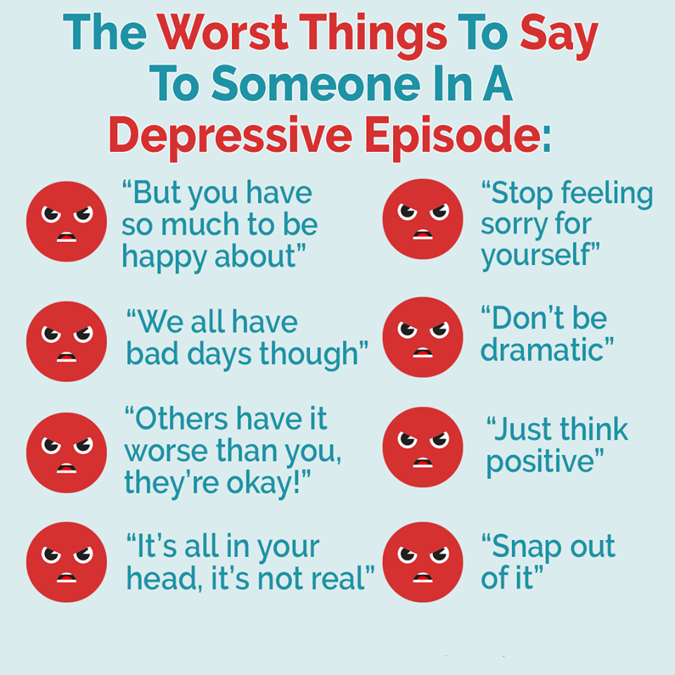 never say these things to a depressed person