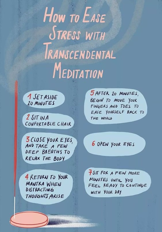 7 step process to Practice Transcendental Meditation