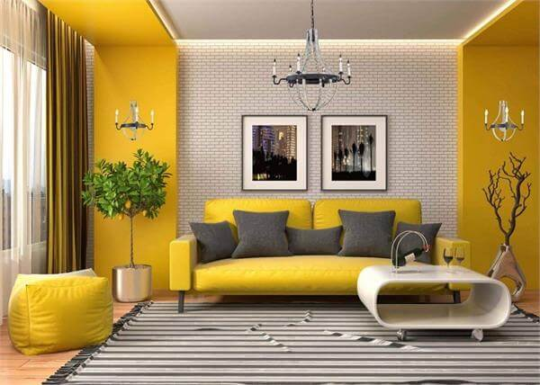 Yellow - positive colours for home