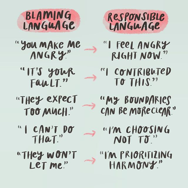 instead of blaming language use responsive language