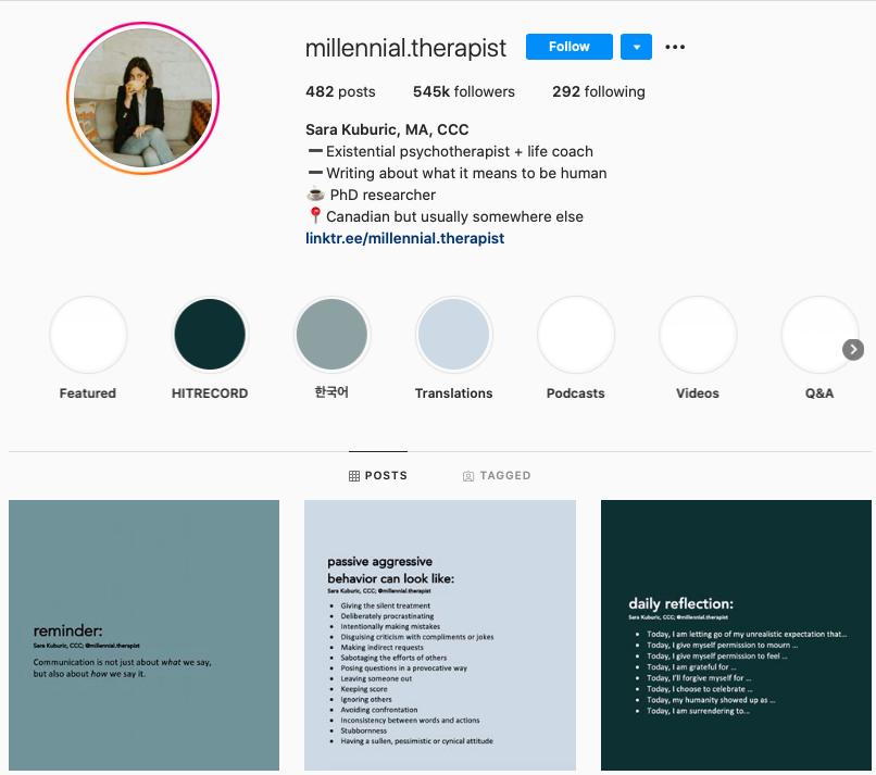 millenial therapist