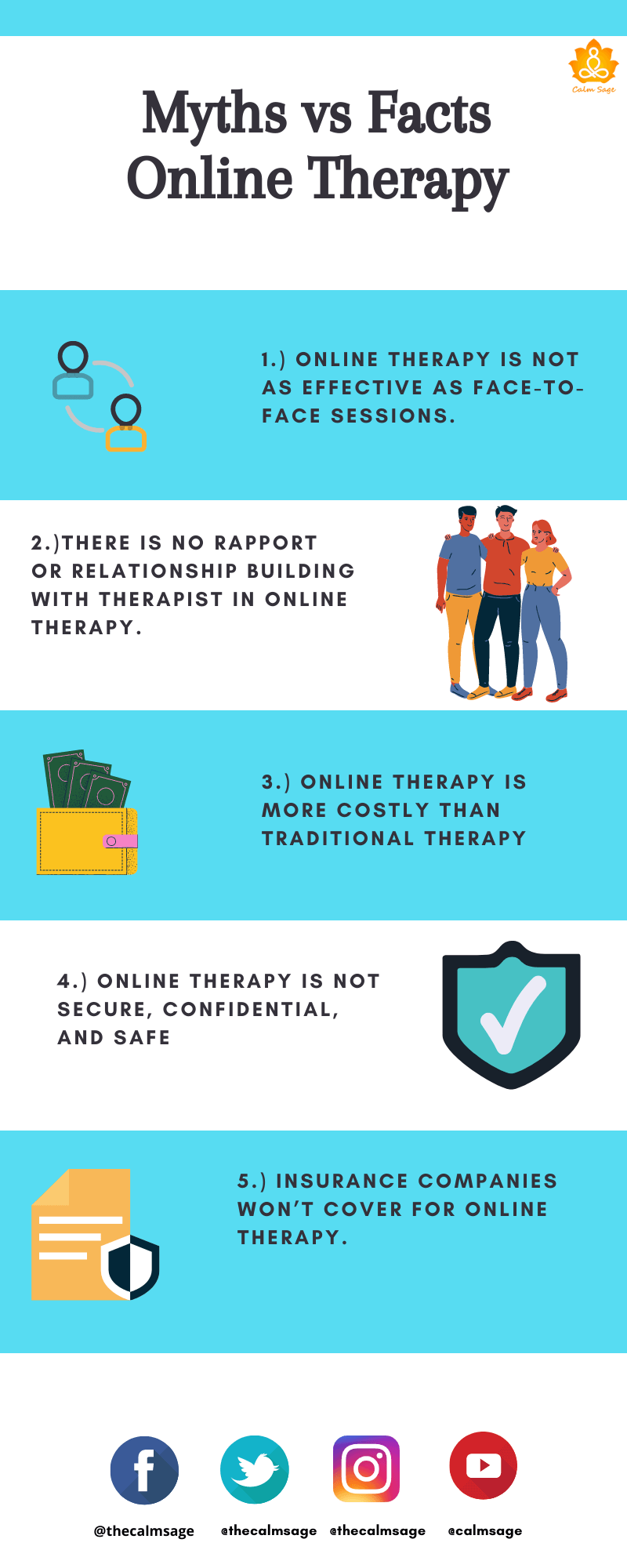 Myths vs facts online therapy