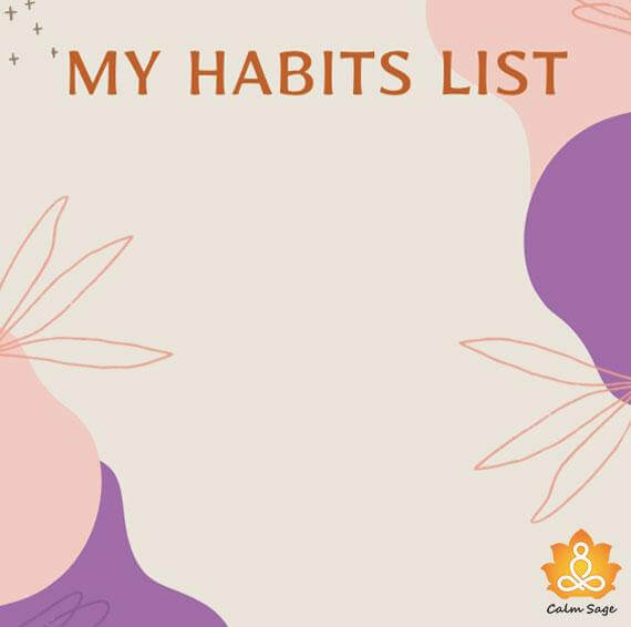 write down your habit list