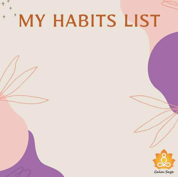 write down your habit list