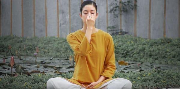 Nadi Shodhana or Nostril breathing