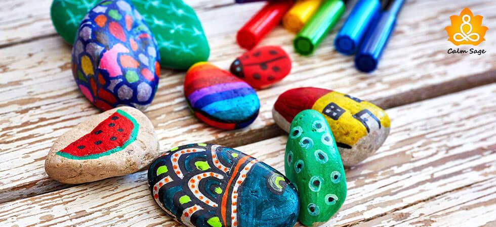 Pebble doodling for Mindfulness