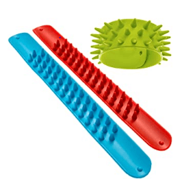 Spiky slap bracelets