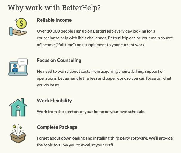 why work with betterhelp