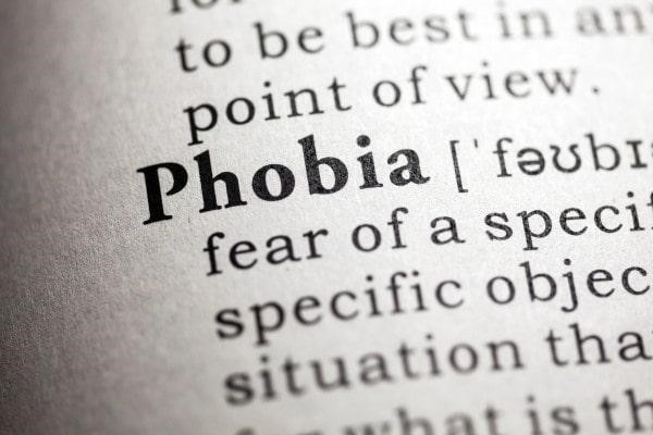 symptoms of a phobia