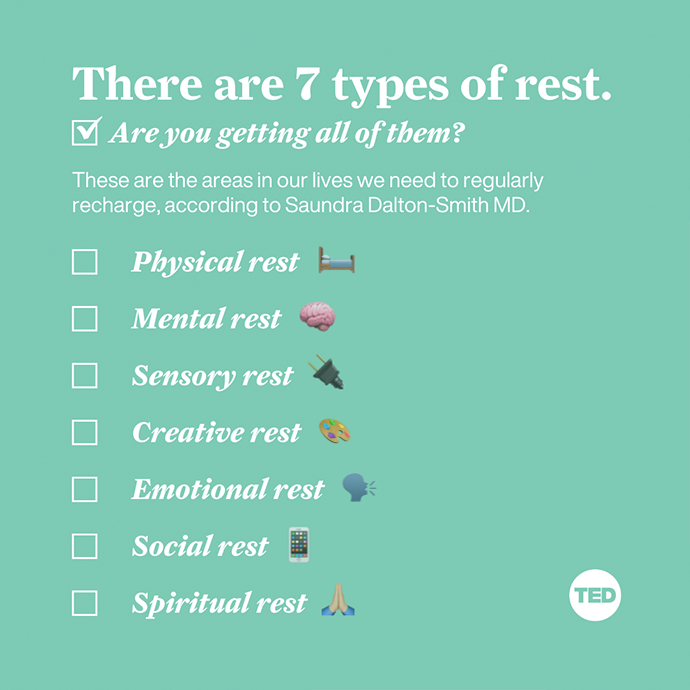 7 types of rest