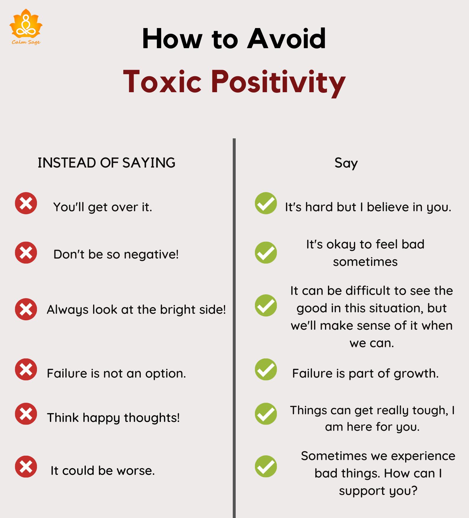 HOW TO AVOID TOXIC POSITIVITY