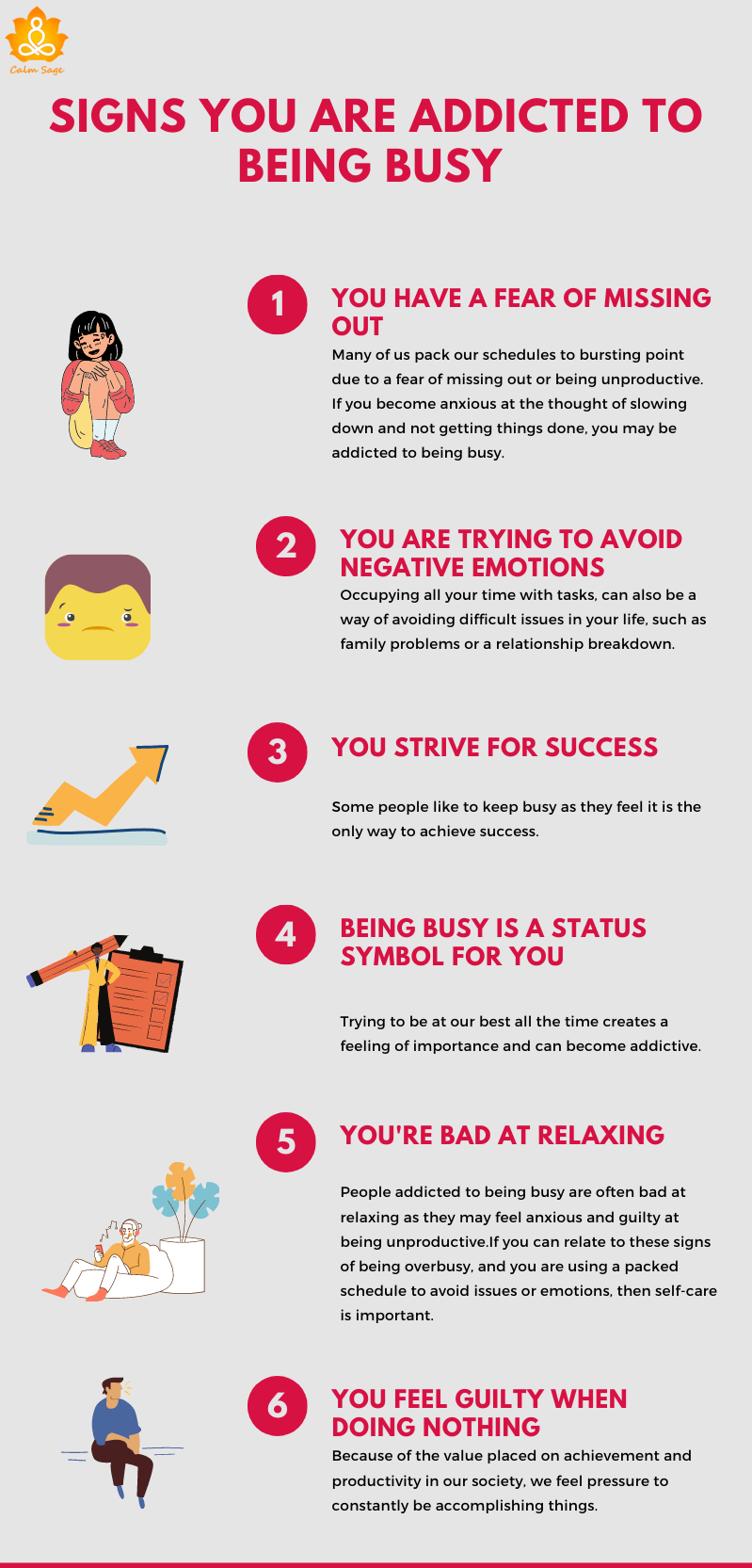 signs you are addicted to being busy