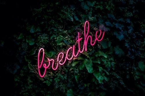 Breathe in the moment