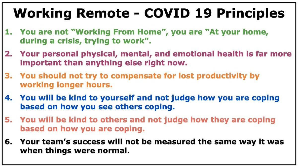 working remote covid 19 rules