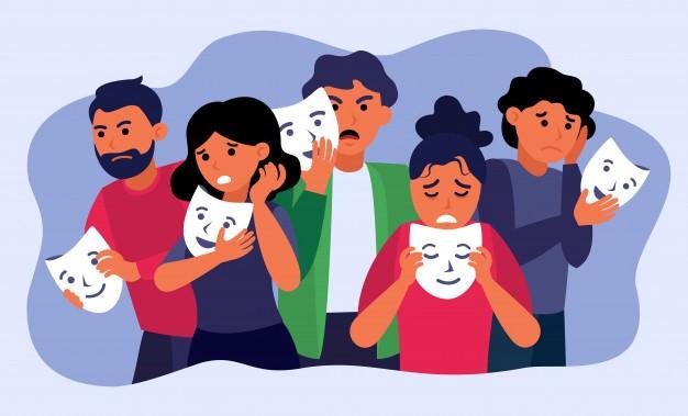 Masked grief