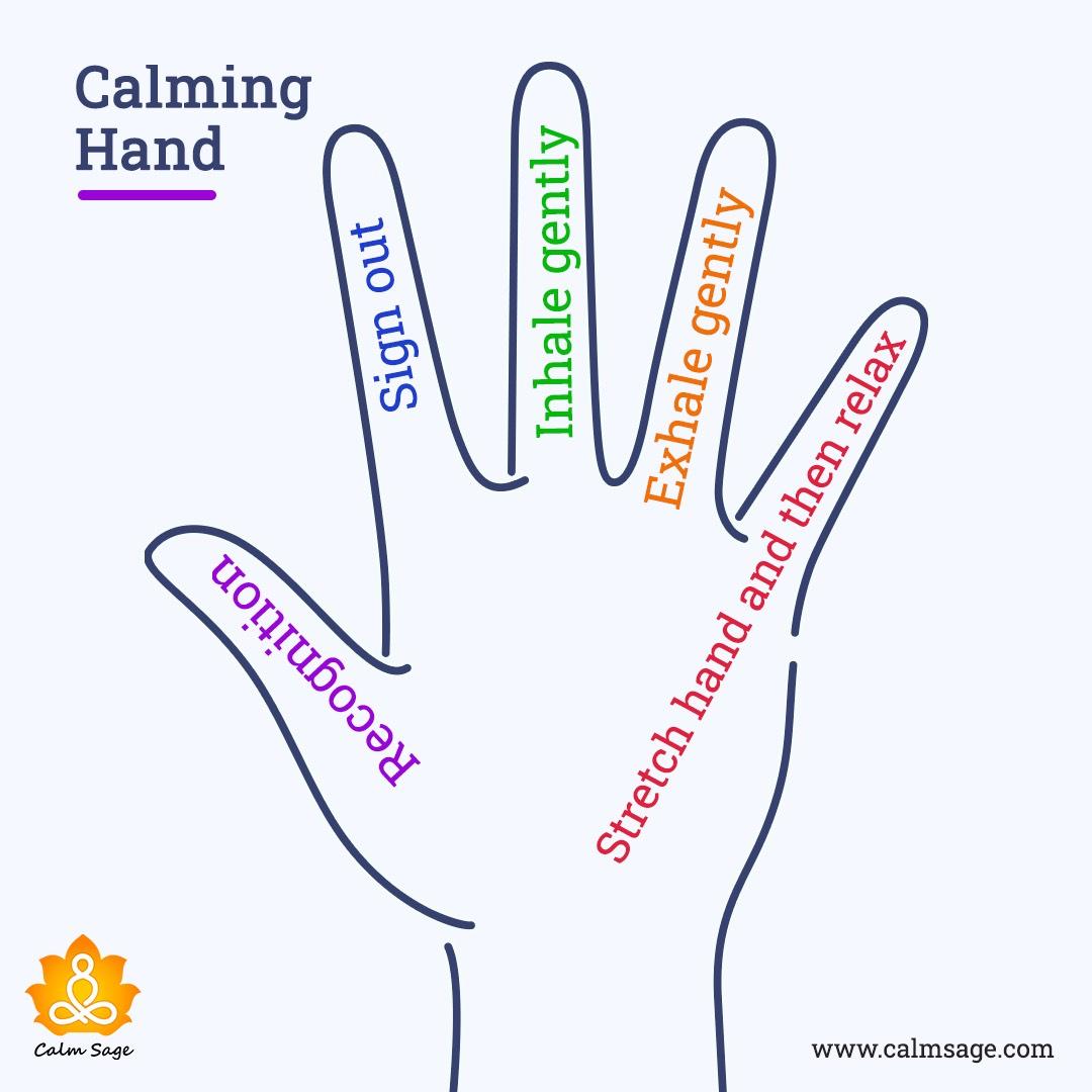 calming hand