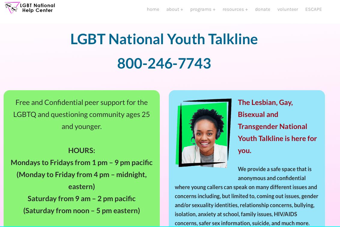 LGBT National Youth Talkline
