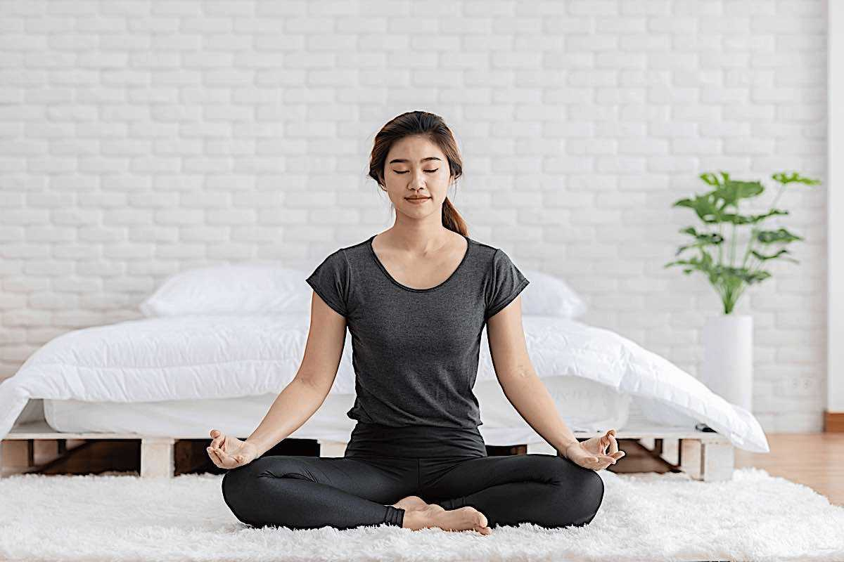 meditation near the bed