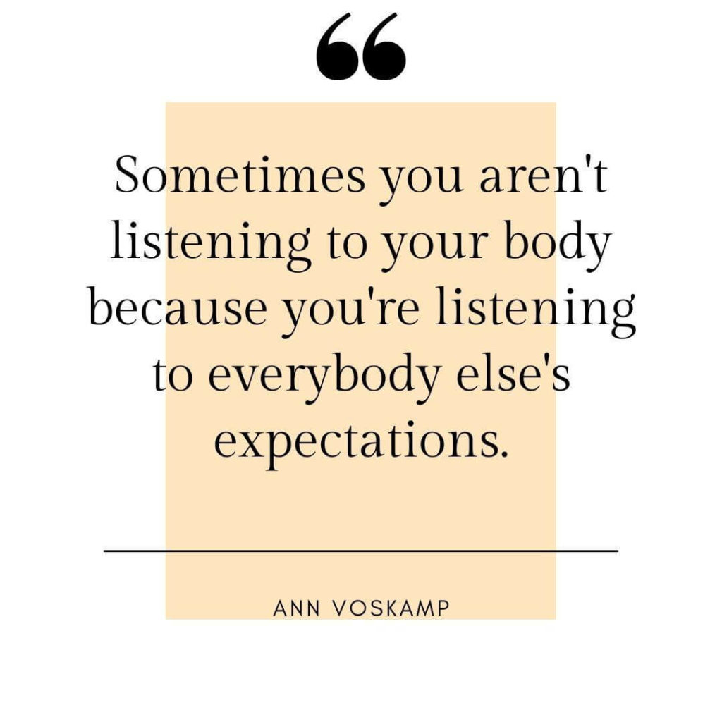 Listen to you body need