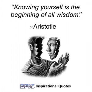 knowing yourself is begining of all wisdom