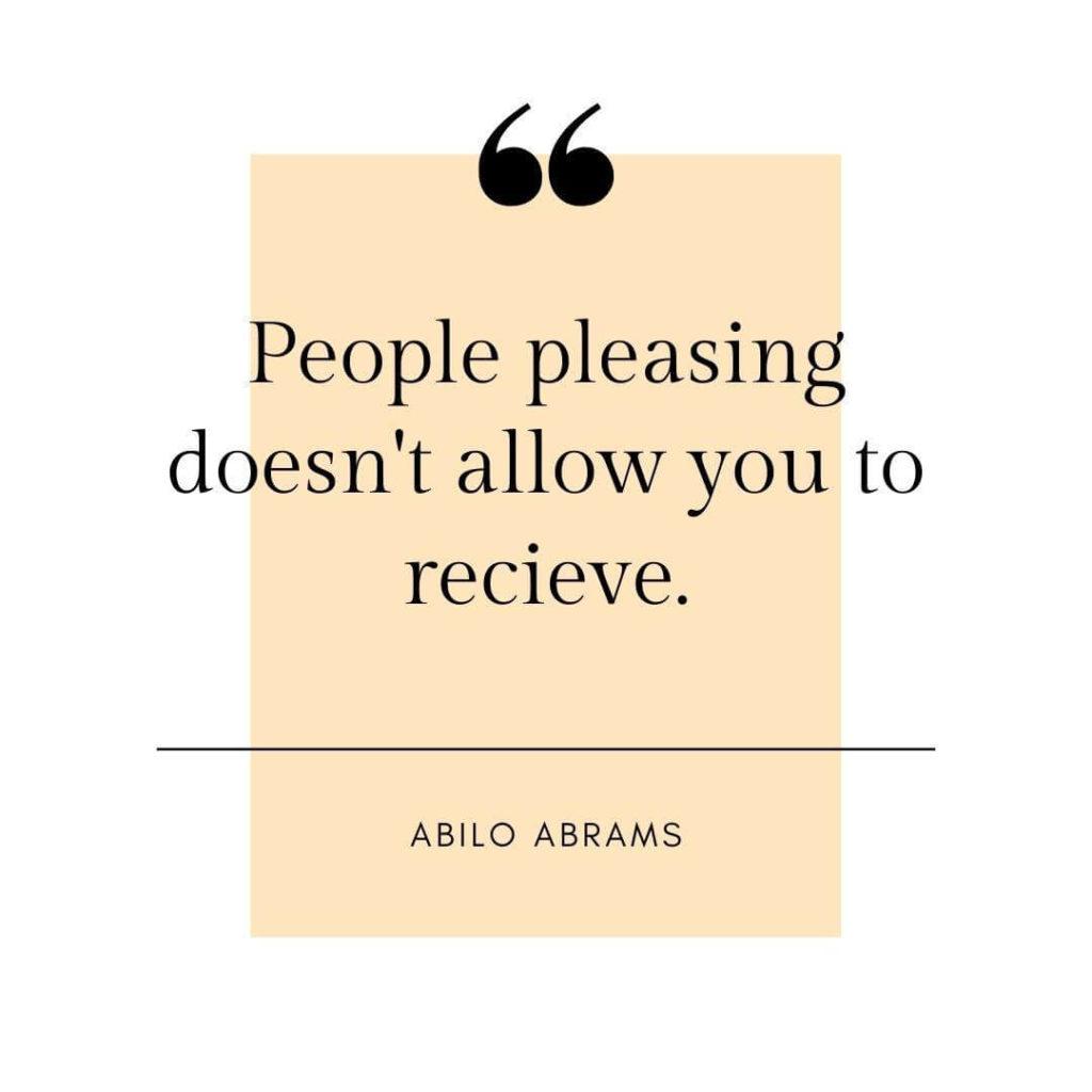 people pleasing never receive