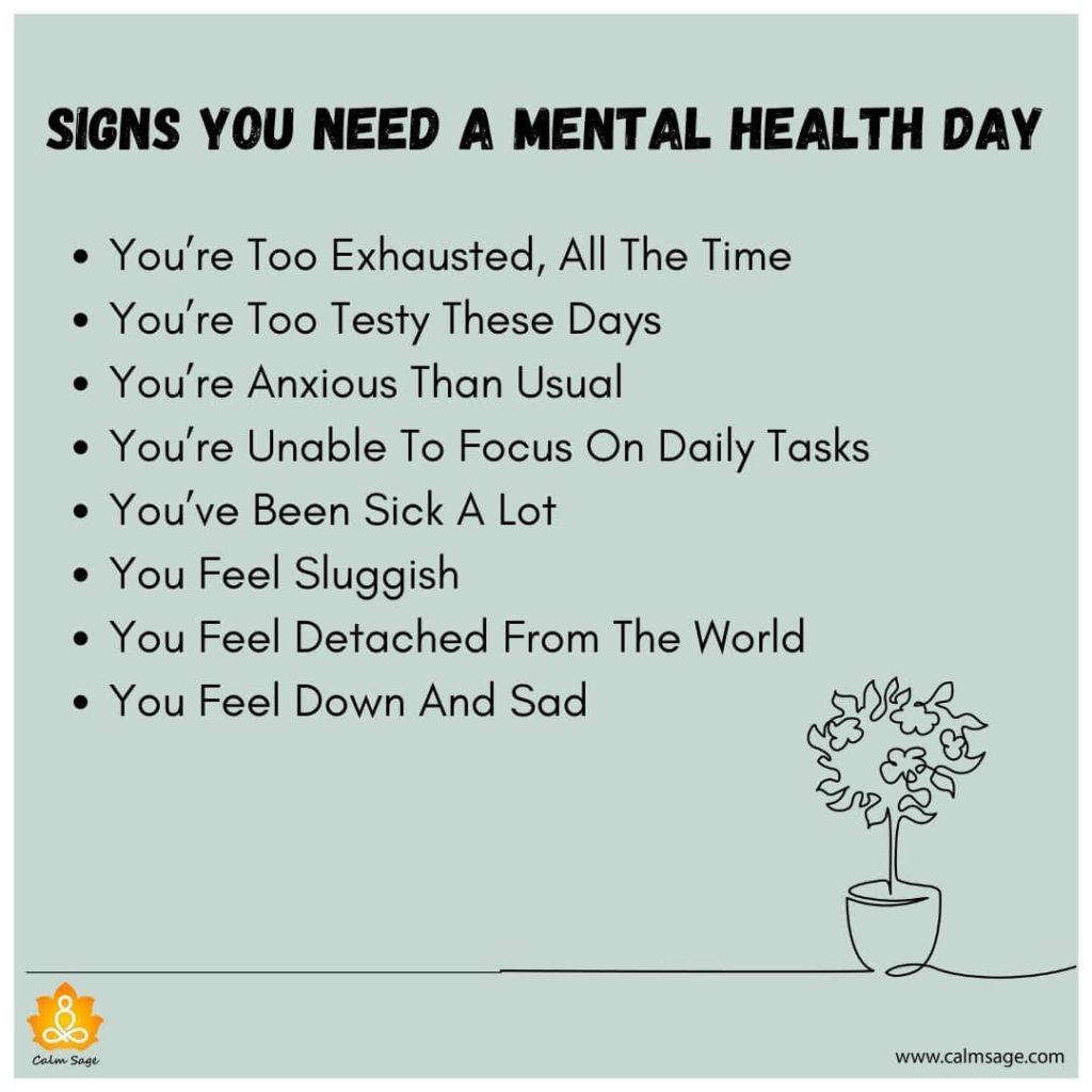 signs you need a mental health day